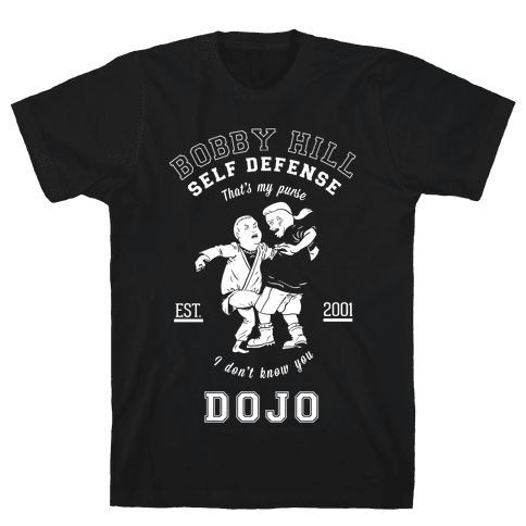 Bobby Hill Self Defense Dojo Mens T-Shirt