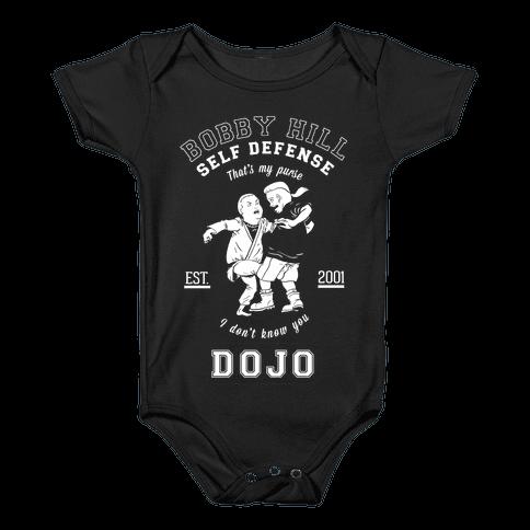 Bobby Hill Self Defense Dojo Baby Onesy