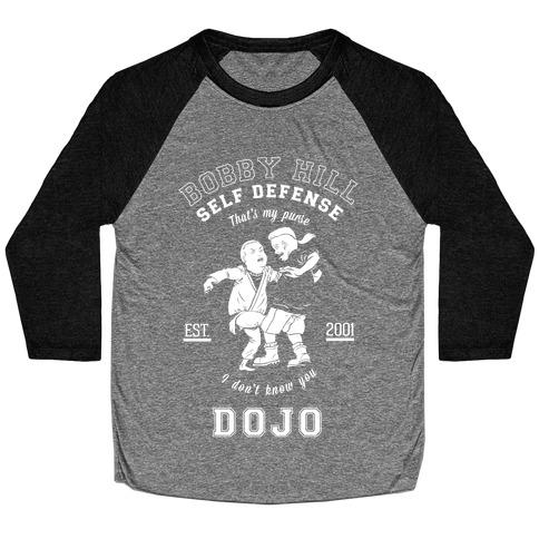Bobby Hill Self Defense Dojo Baseball Tee