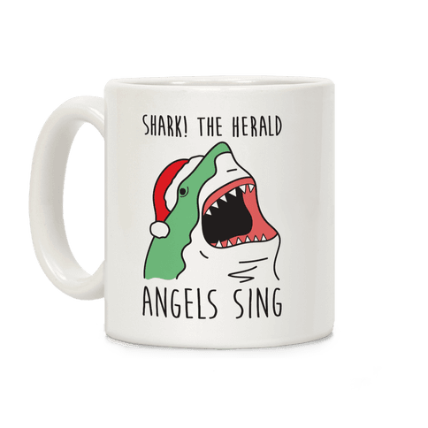 Shark! The Herald Angels Sing Coffee Mug