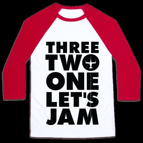 Three Two One Let's Jam Cowboy Bebop Baseball Tee