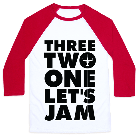 Three Two One Let's Jam Cowboy Bebop Baseball Tee