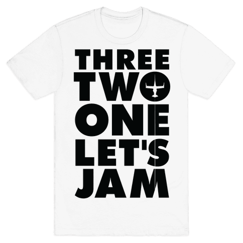 Three Two One Let's Jam Cowboy Bebop Mens T-Shirt