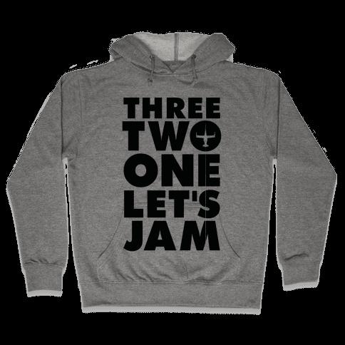 Three Two One Let's Jam Cowboy Bebop Hooded Sweatshirt