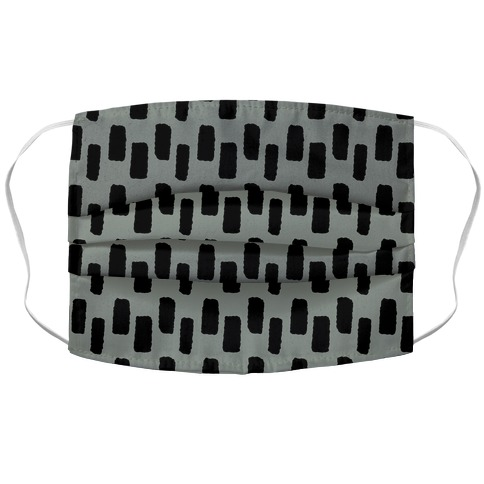 Organic Rectangle Pattern Grey Accordion Face Mask