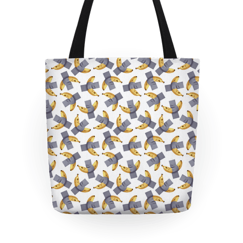 Banana Duct Tape Pattern Tote