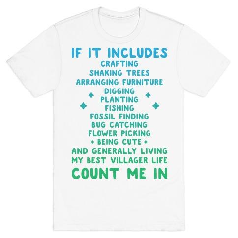 Animal Crossing Activities Count Me In T-Shirt