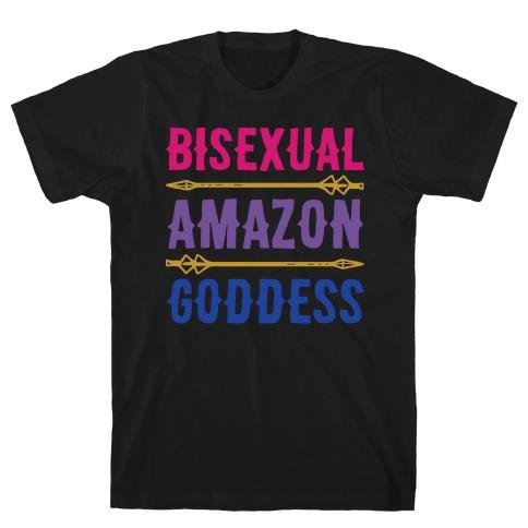 Bisexual Amazon Goddess Parody White Print T-Shirt