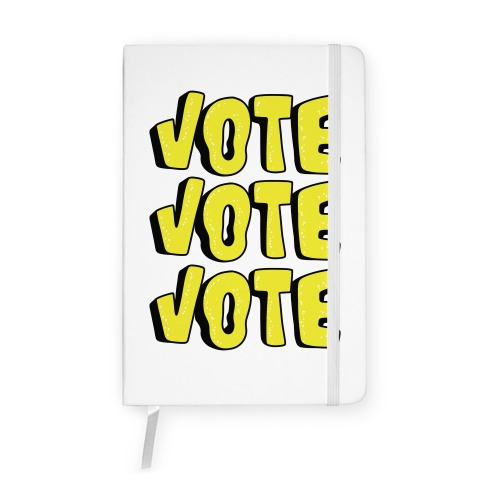 Vote Vote Vote! (Yellow) Notebook