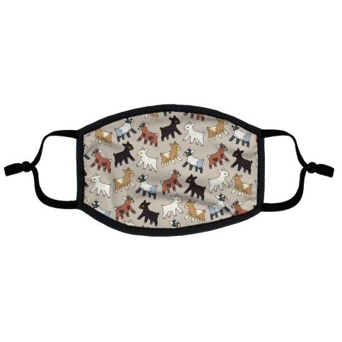Baby Goats On Baby Goats Pattern Flat Face Mask