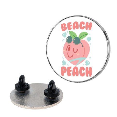 Beach Peach Pin