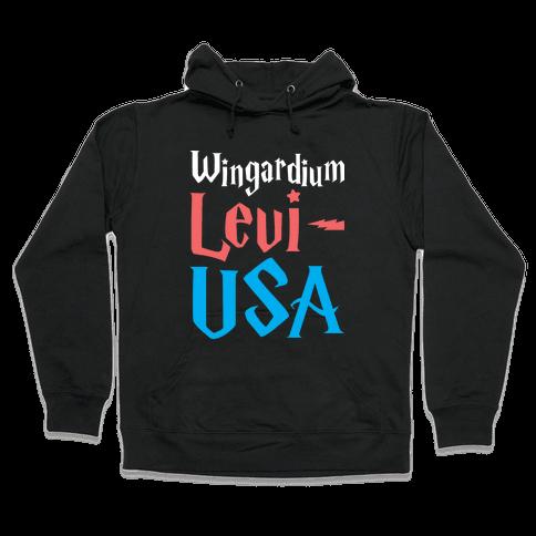 Wingardium Levi-USA Hooded Sweatshirt