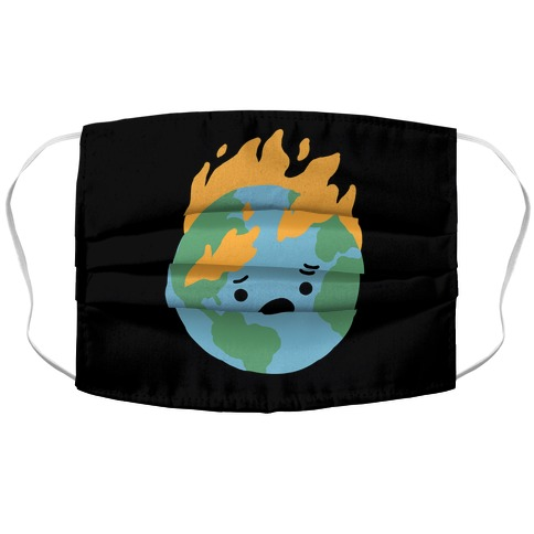 World on Fire Accordion Face Mask