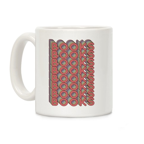 Books Retro Rainbow Coffee Mug