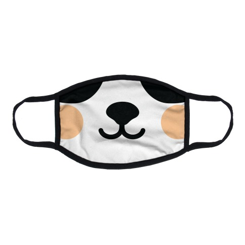 Panda Bear Mouth Flat Face Mask