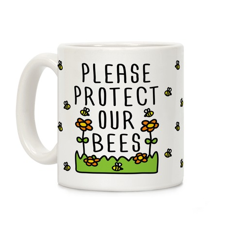 Please Protect The Bees Coffee Mug