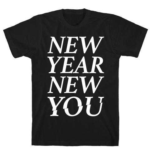 New Year New You Parody White Print T-Shirt