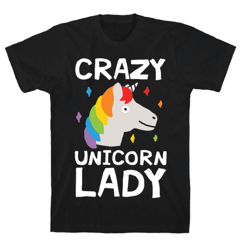 Crazy Unicorn Lady Mens T-Shirt