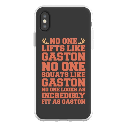 No One Lifts Like Gaston Parody Phone Flexi-Case
