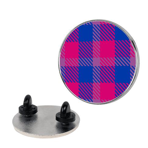 Bi Pride Flag Plaid Pin