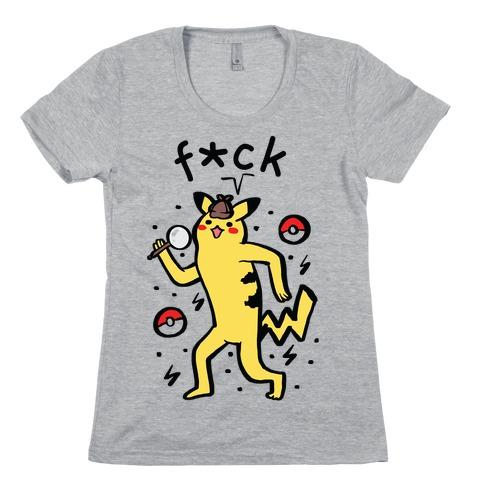 F*ck Pikachu Parody Womens T-Shirt