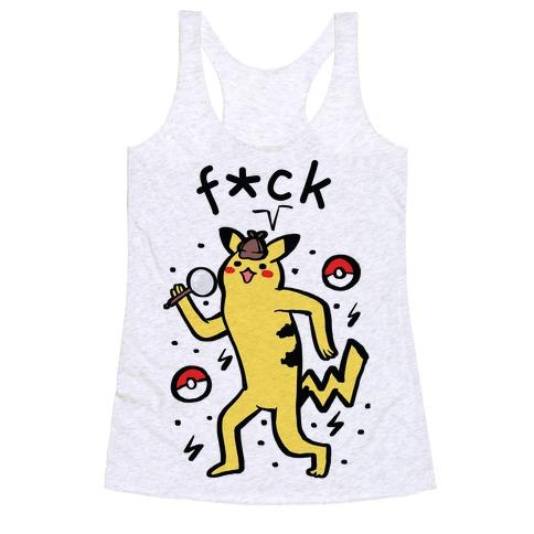 F*ck Pikachu Parody Racerback Tank Top