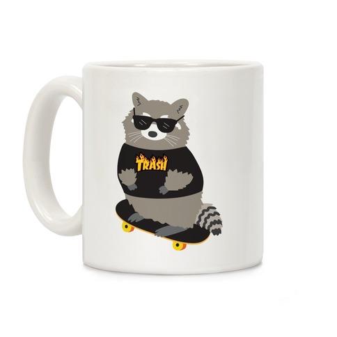Skate Trash Raccoon Parody Coffee Mug