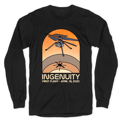 Ingenuity First Flight Date Long Sleeve T-Shirt