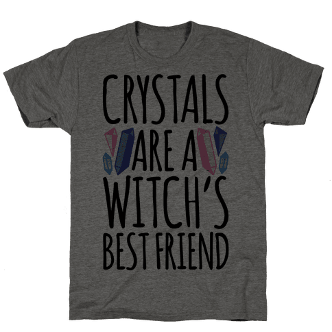 Crystals Are A Witch's Best Friend Mens T-Shirt