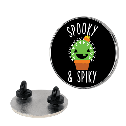 Spooky and Spiky pin
