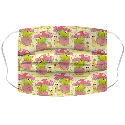 Cute Snail & Frog Accordion Face Mask