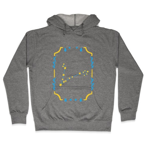 Pisces Star Card Hooded Sweatshirt