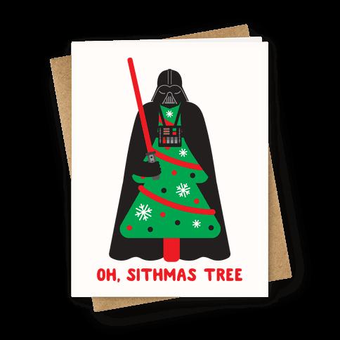 Oh, Sithmas Tree Greeting Card