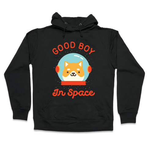 Good Boy In Space Hooded Sweatshirt