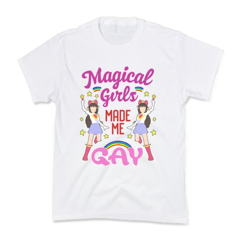 Magical Girls Made Me Gay Kids T-Shirt