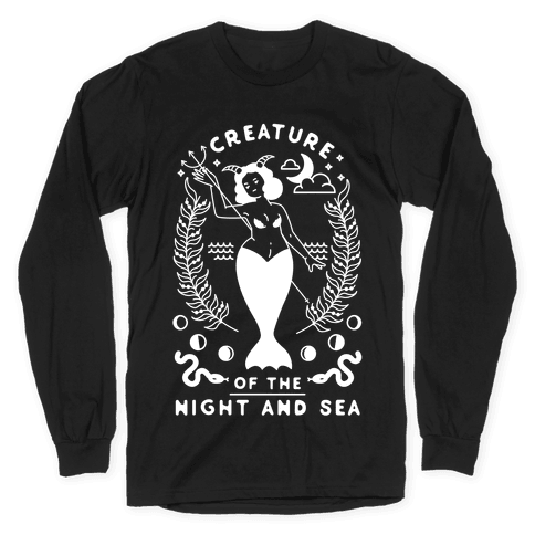 Creature of the Night and Sea Long Sleeve T-Shirt