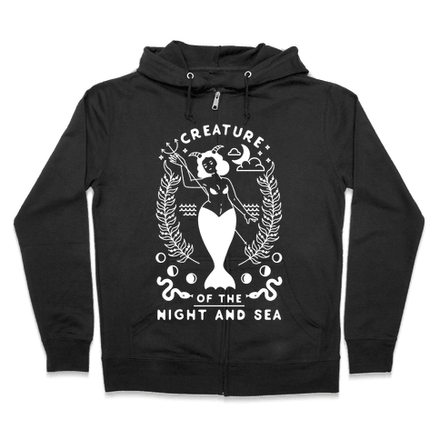 Creature of the Night and Sea Zip Hoodie