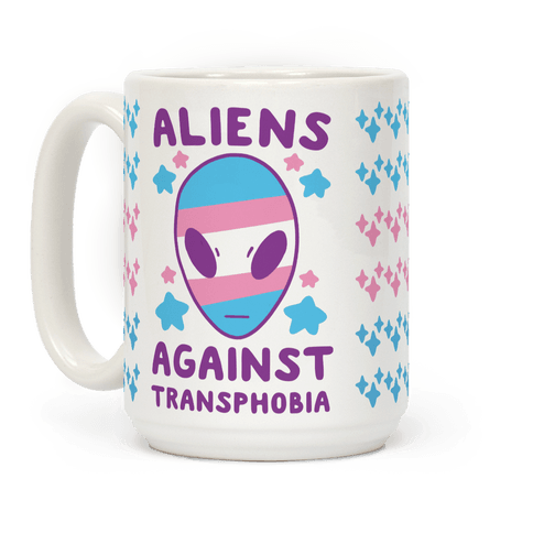 Aliens Against Transphobia Coffee Mug