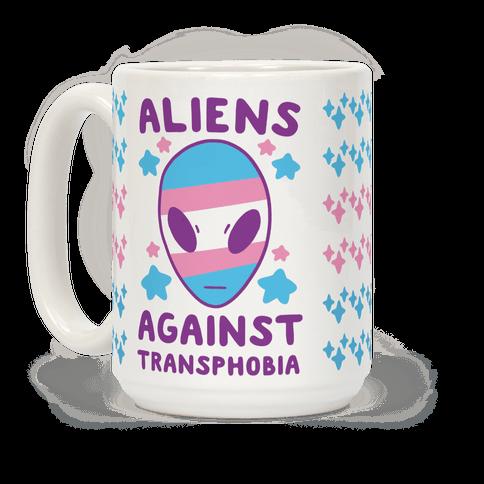 Aliens Against Transphobia Coffee Mug