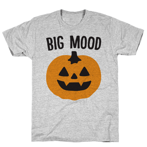 Big Mood Jack-o-lantern Mens T-Shirt