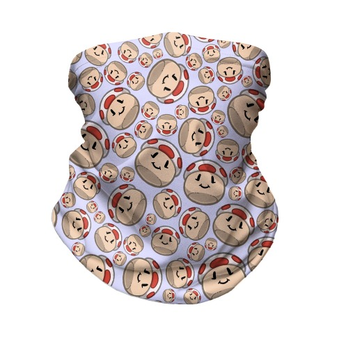 Stuffed Shrooms Pattern Neck Gaiter