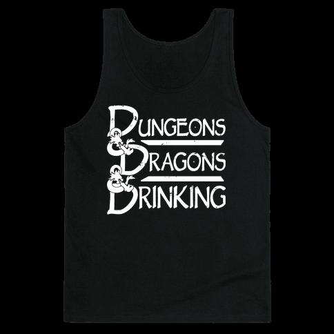 Dungeons & Dragons & Drinking Tank Top