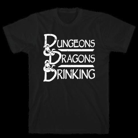 Dungeons & Dragons & Drinking Mens/Unisex T-Shirt
