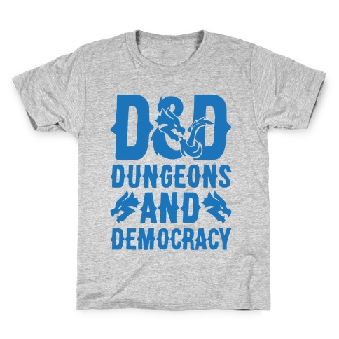 Dungeons and Democracy Parody Kids T-Shirt