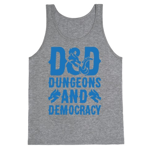 Dungeons and Democracy Parody Tank Top