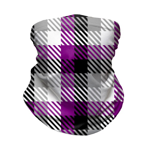 Ace Pride Flag Plaid Neck Gaiter