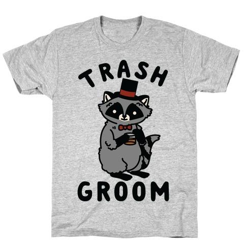 Trash Groom Raccoon Bachelor Party T-Shirt
