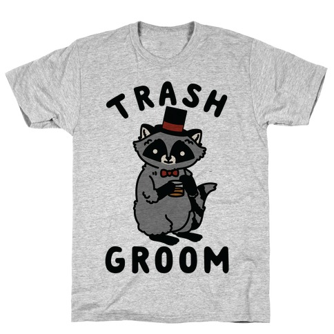 Trash Groom Raccoon Bachelor Party T-Shirt