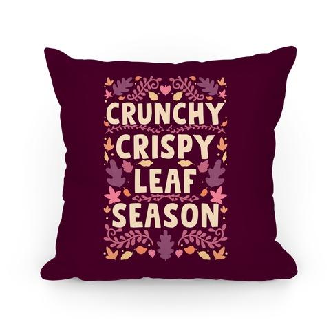 Crunchy Crispy Leaf Season Pillow