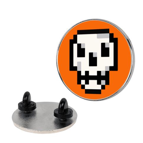 Pixel Halloween Skull Pin
